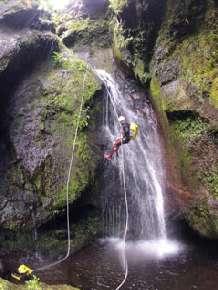 Canyoning auf Flores wird immer beliebter. Insel Flores/Azoren