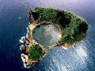 Die Insel Ilheu Vila Franca vor Sao Miguel,Azoren
