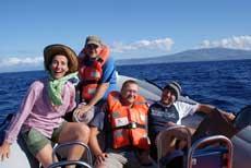 Jörg Mazur auf Wal-Delfintour vor Faial, Azoren