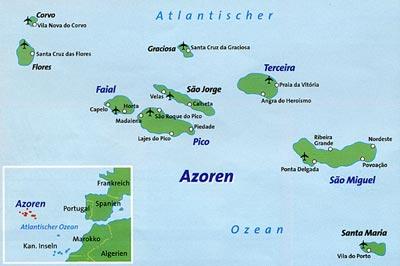 Wo liegen die Azoren