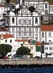 Der Blick auf Horta von der Marina, Faial, Azoren