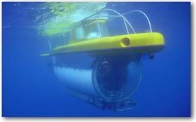 Das Tauchboot Lula im tiefen Blau des azoreanischen Atlantiks